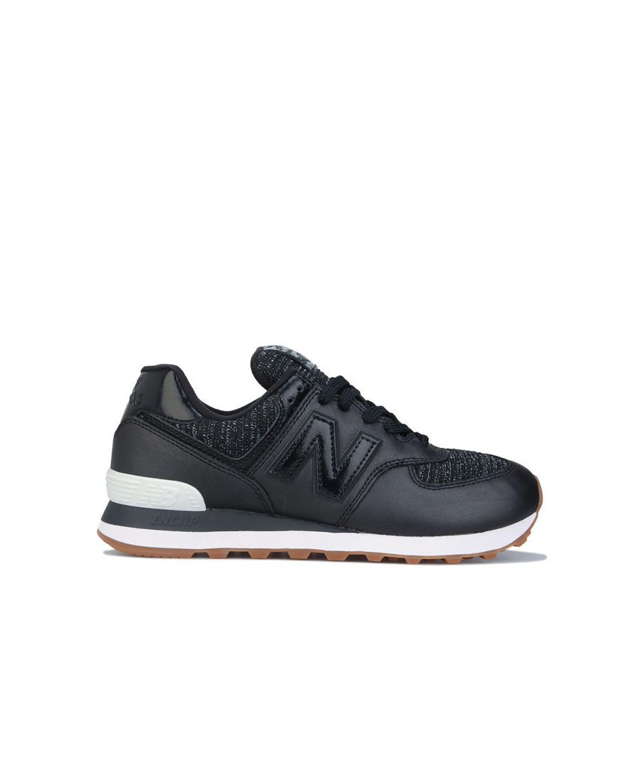Image for Women's New Balance 574 Trainers in Black
