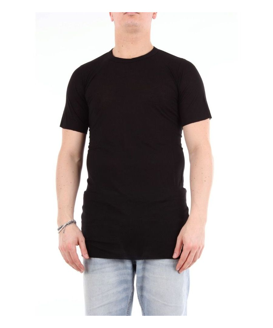 Image for RICK OWENS MEN'S RU19F4251NERO BLACK COTTON T-SHIRT