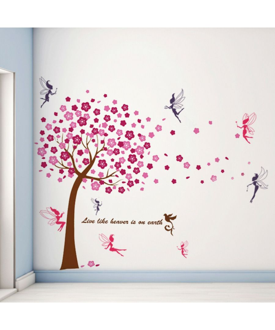 Image for Wall Art - Huge Pink Tree + Fairies