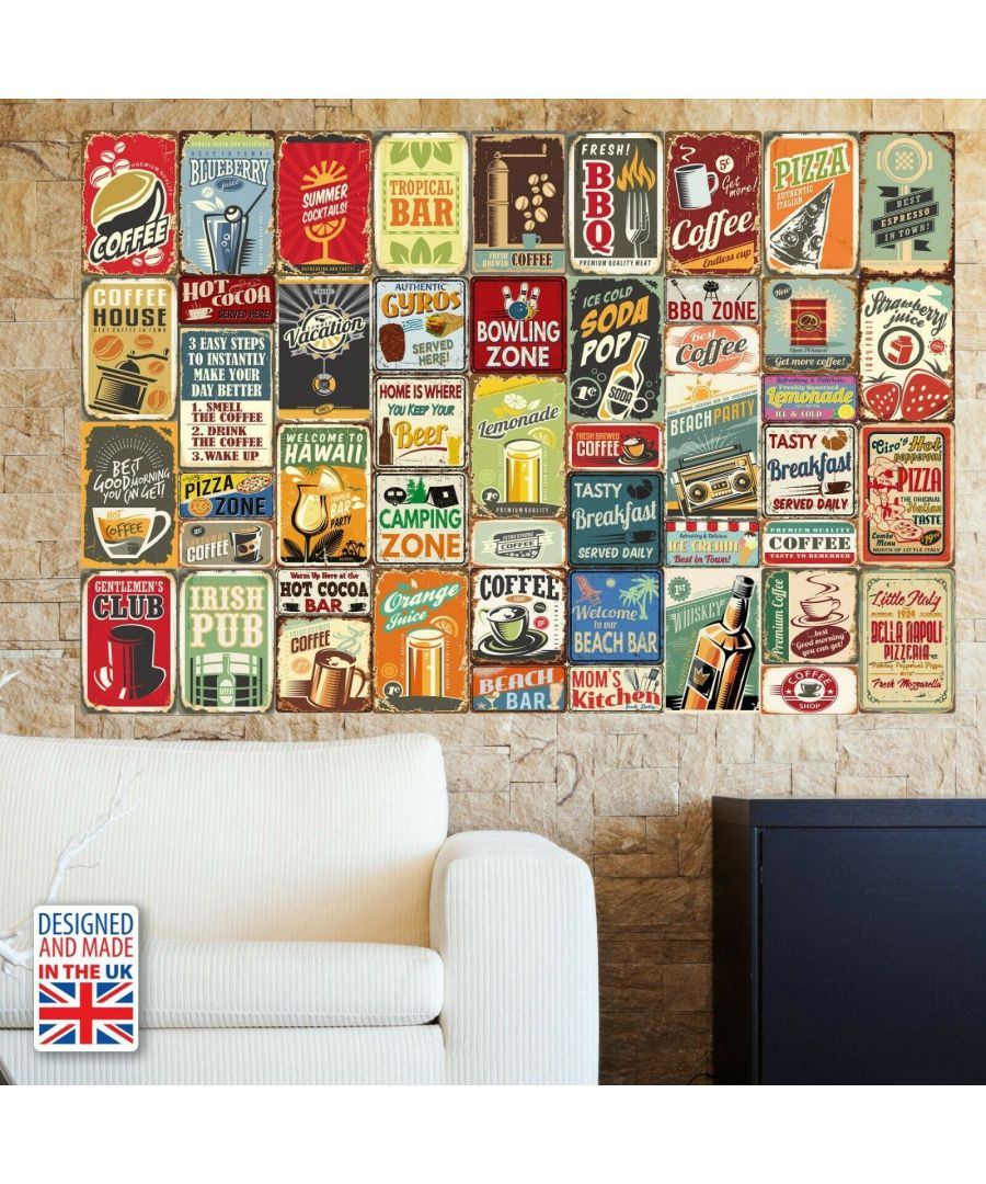 Image for WF10010 - Party Metal Signs Collage Mural
