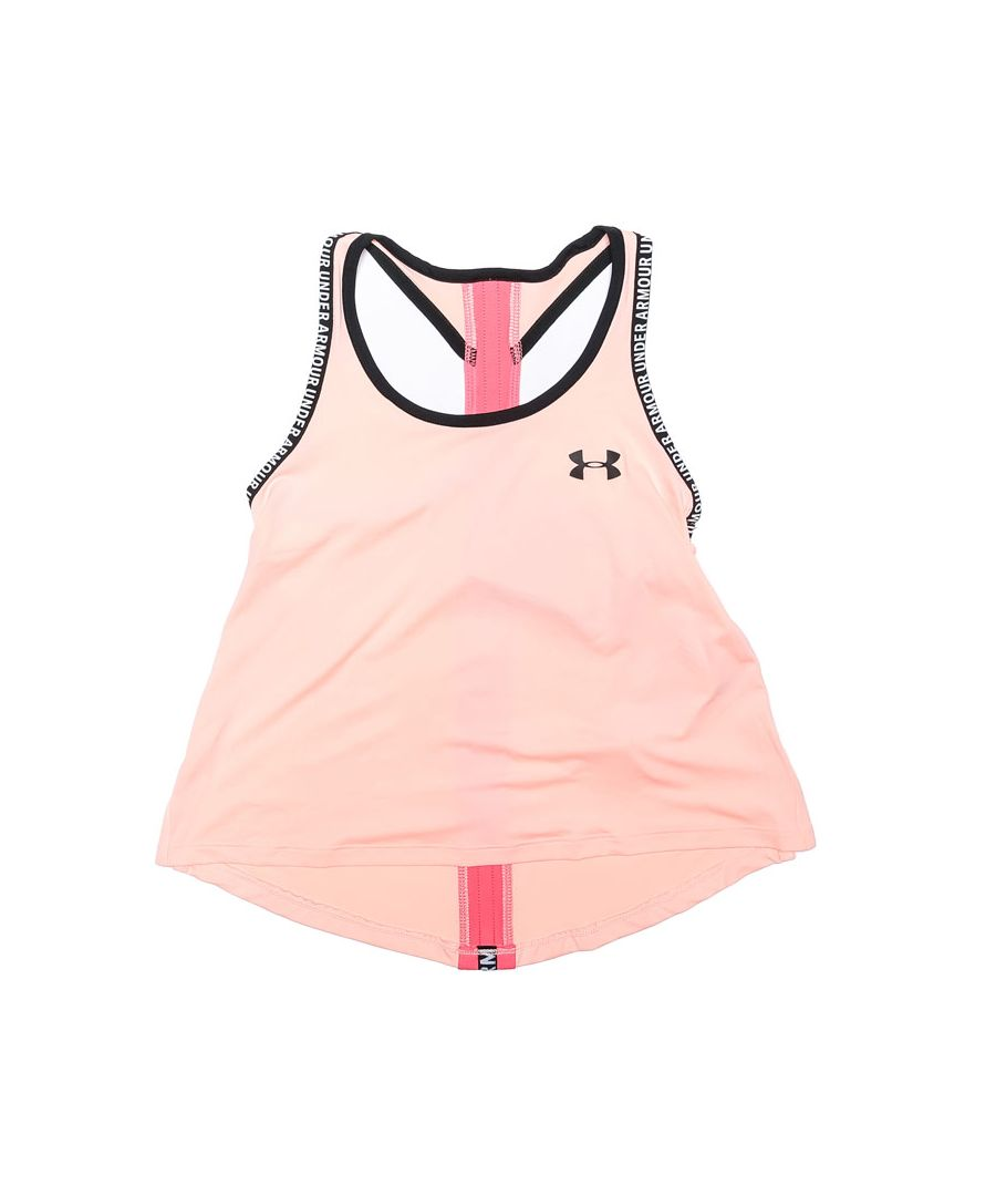 Image for Girl's Under Armour Junior Knockout Vest in Coral