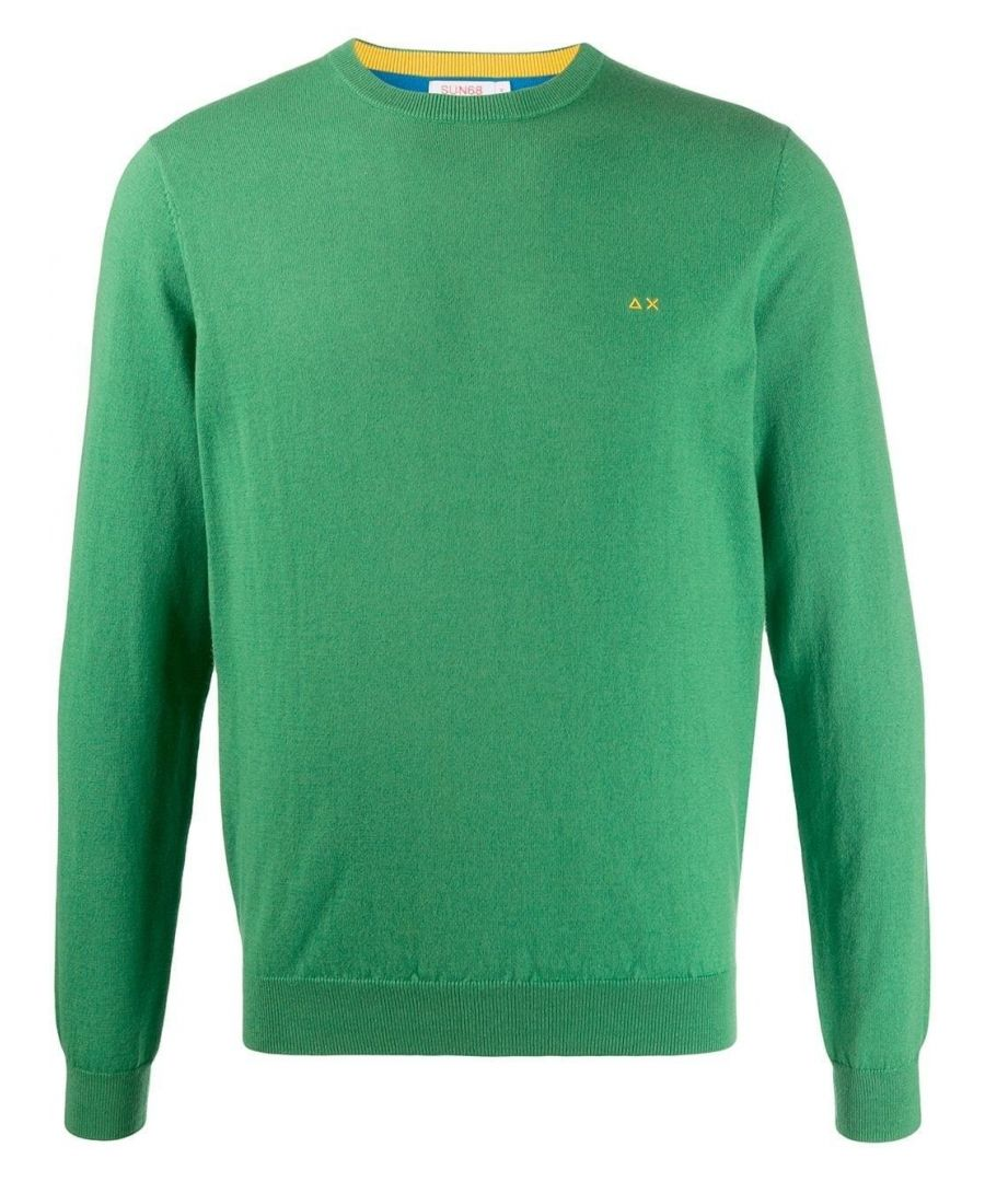 Image for SUN 68 MEN'S K2913049 GREEN WOOL JUMPER