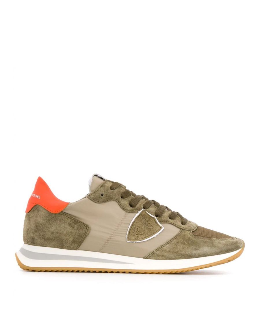 Image for PHILIPPE MODEL MEN'S TZLUW032 GREEN LEATHER SNEAKERS