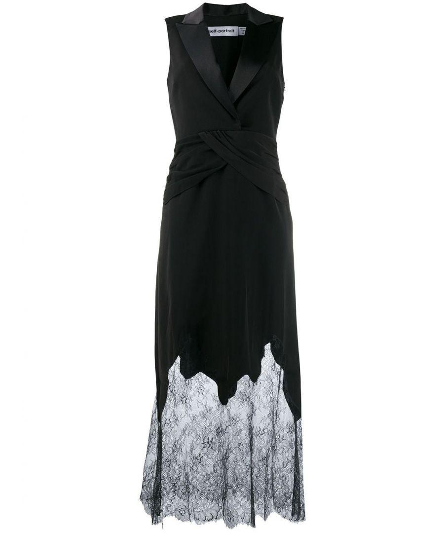 Image for SELF-PORTRAIT WOMEN'S SP23039BLACK BLACK POLYESTER DRESS