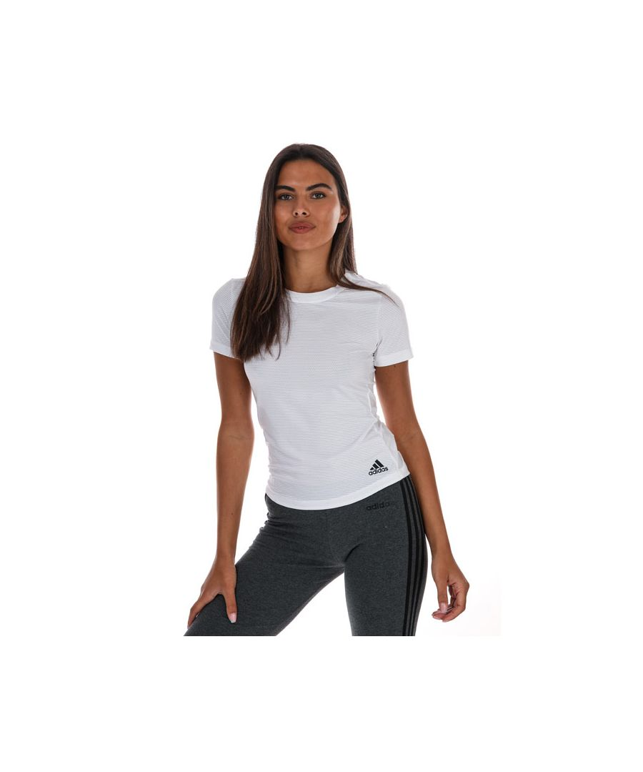 Image for Women's Adidas Performance T-Shirt in White Marl