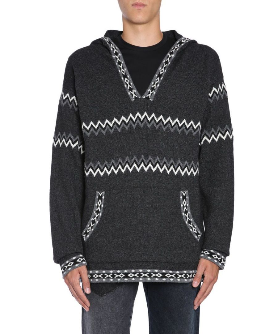 Image for DIESEL BLACK GOLD MEN'S 00SL9BBGKJX958 GREY WOOL SWEATER