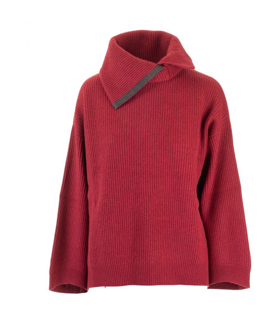 Image for BRUNELLO CUCINELLI WOMEN'S M12714414C7457 RED WOOL SWEATER