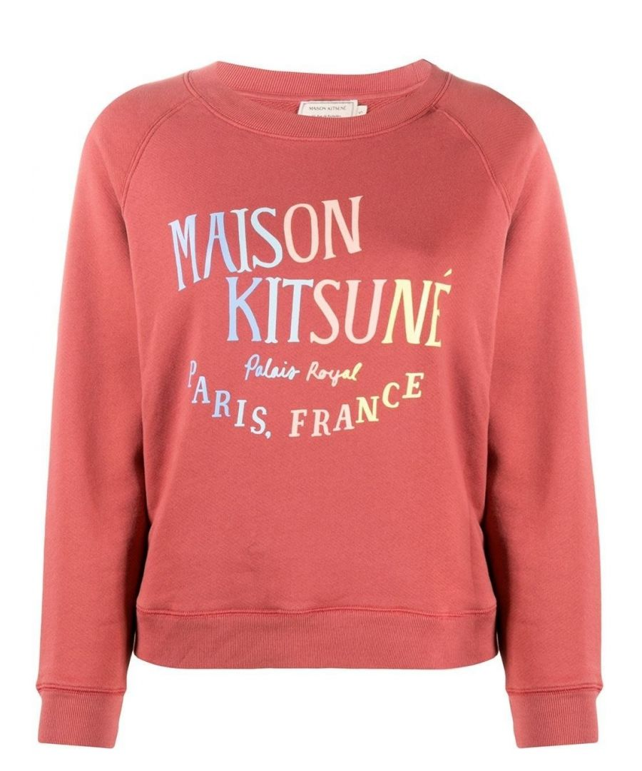 Image for MAISON KITSUNÉ WOMEN'S EW00325KM0002DARKPINK PINK COTTON SWEATSHIRT
