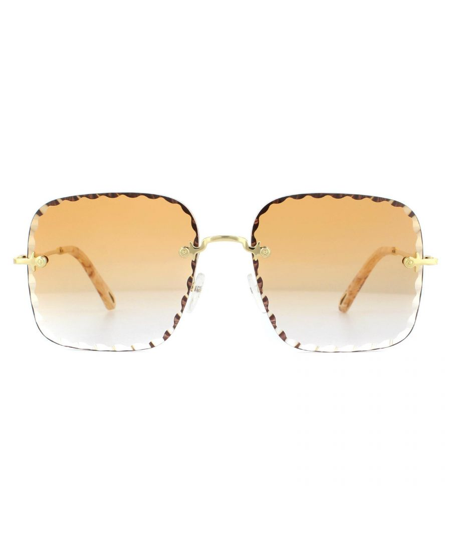 Image for Chloe Sunglasses CE161S 862 Gold Brown Peach Gradient