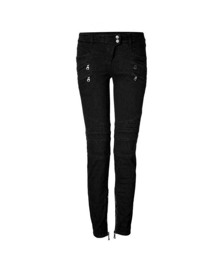 Image for Balmain Jeans Low Rise Black Biker Jeans