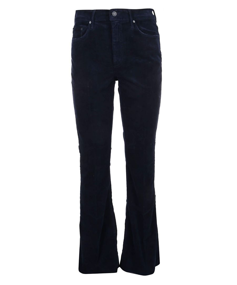 Image for MOTHER WOMEN'S 1535618NAVY BLUE COTTON JEANS