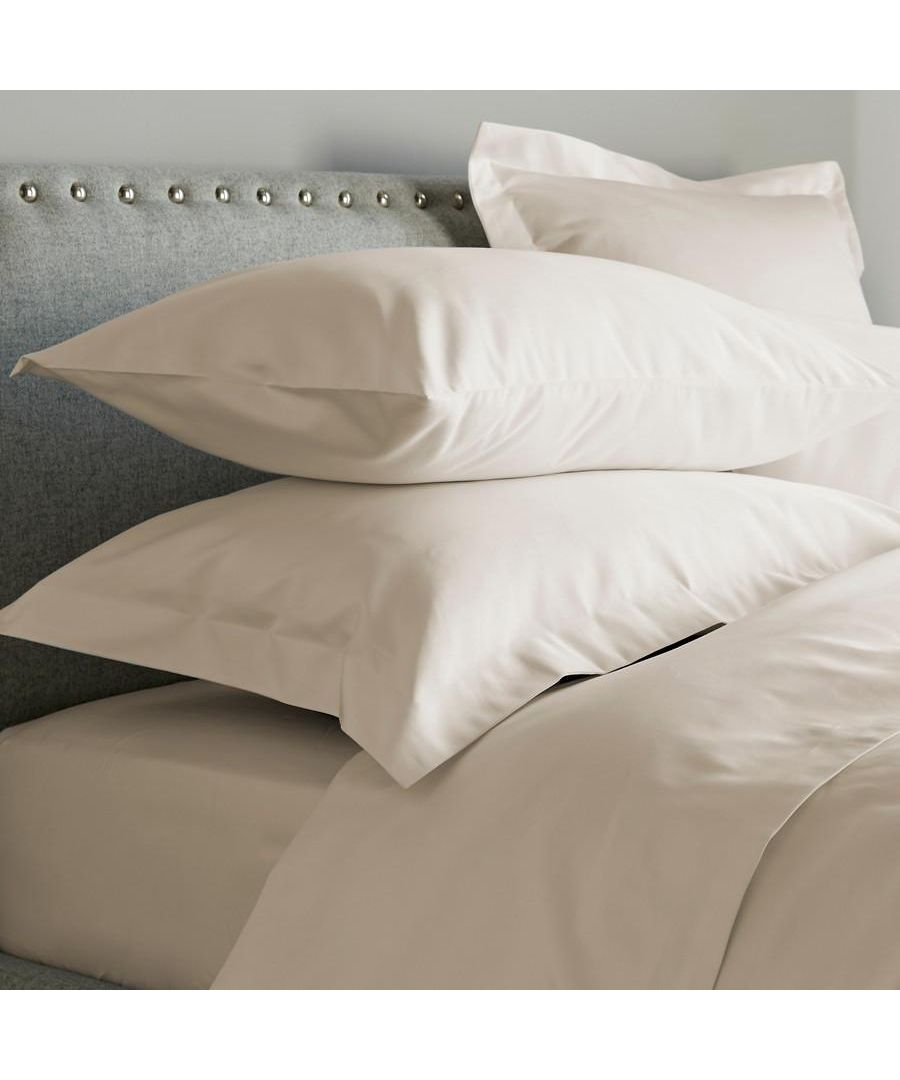 Image for 600 Thread Count Oxford Pillowcase - Single -Ivory