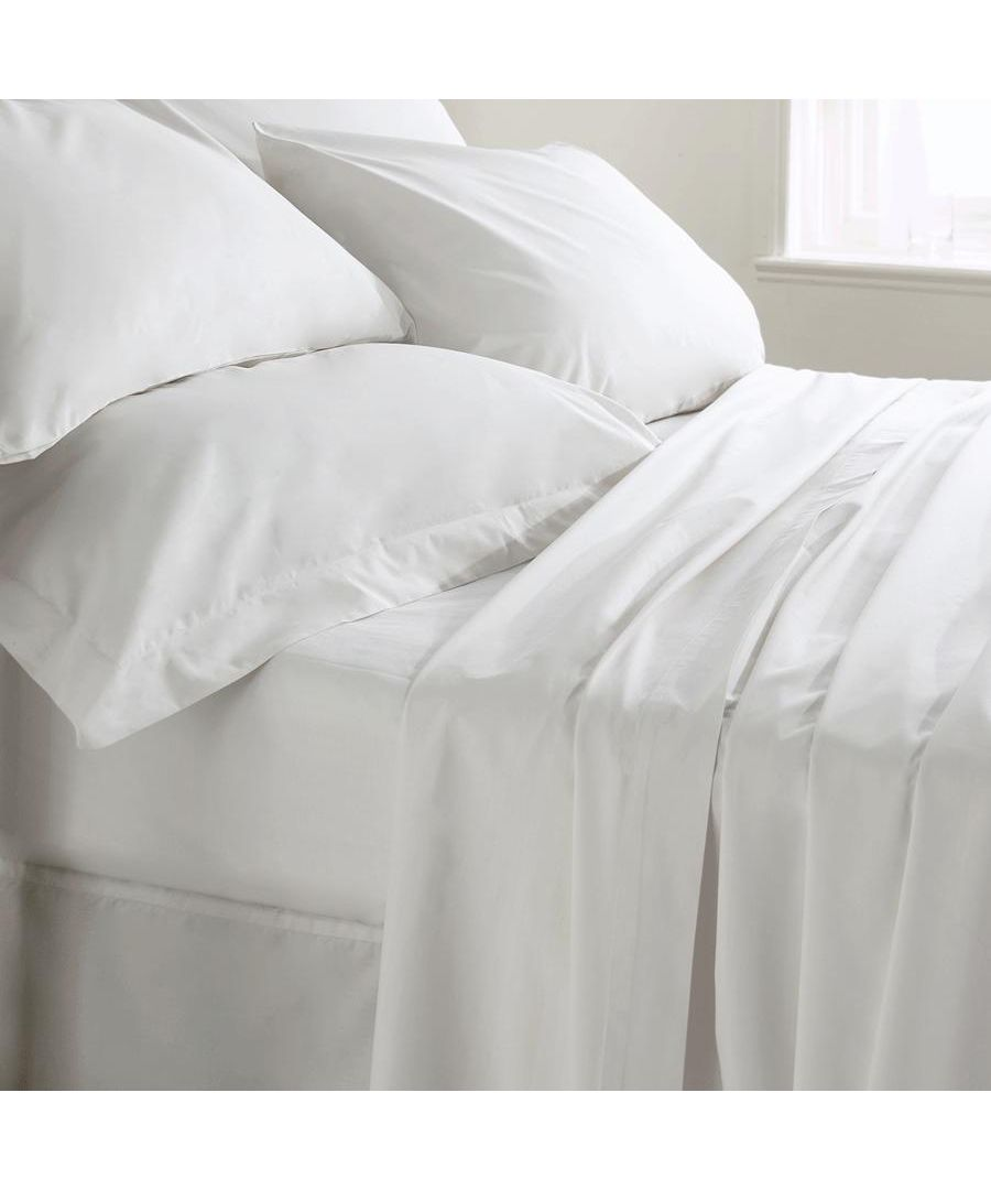 Image for 400 Thread Count Fitted Sheet - Super King - White