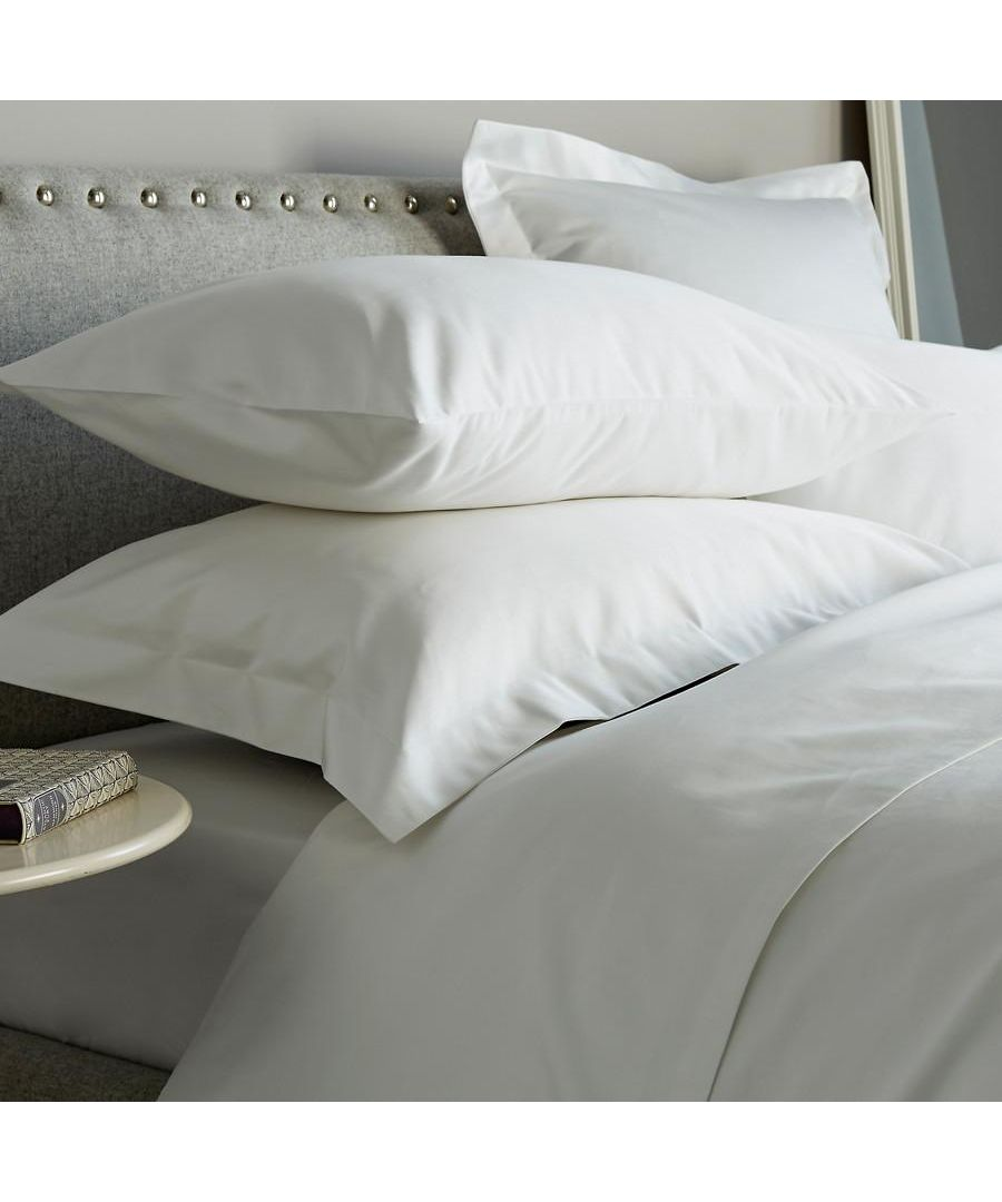 Image for 600 Thread Count Super Kingsize Pillowcase - Single - White