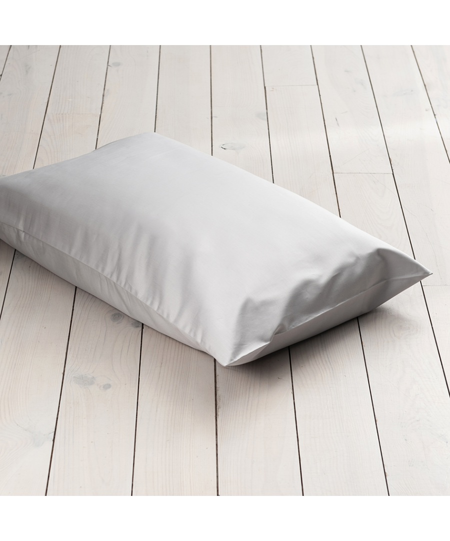 Image for 600 Thread Count Super Kingsize Pillowcase - Single - Ice Grey