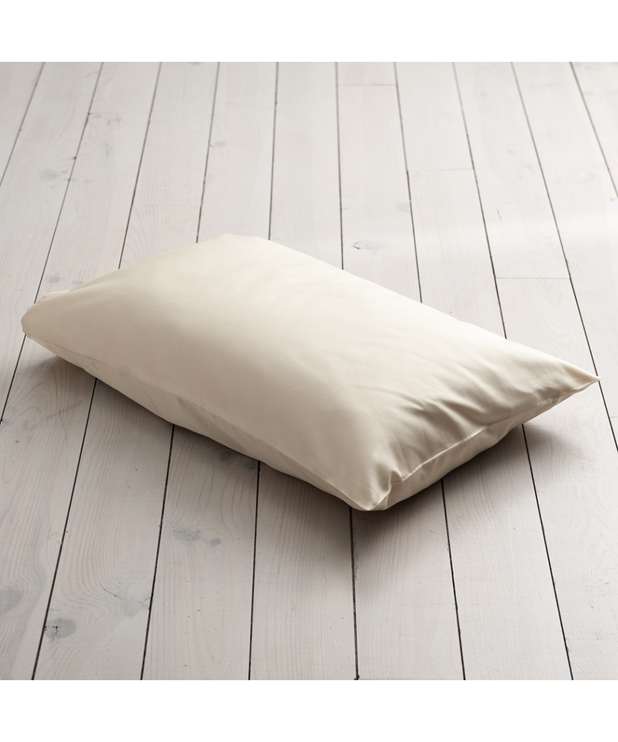 Image for 600 Thread Count Super Kingsize Pillowcase - Single - Ivory