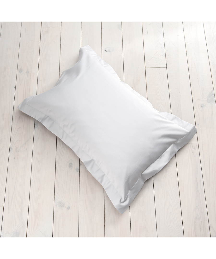 Image for 600 Thread Count Oxford Pillowcase - Single - White