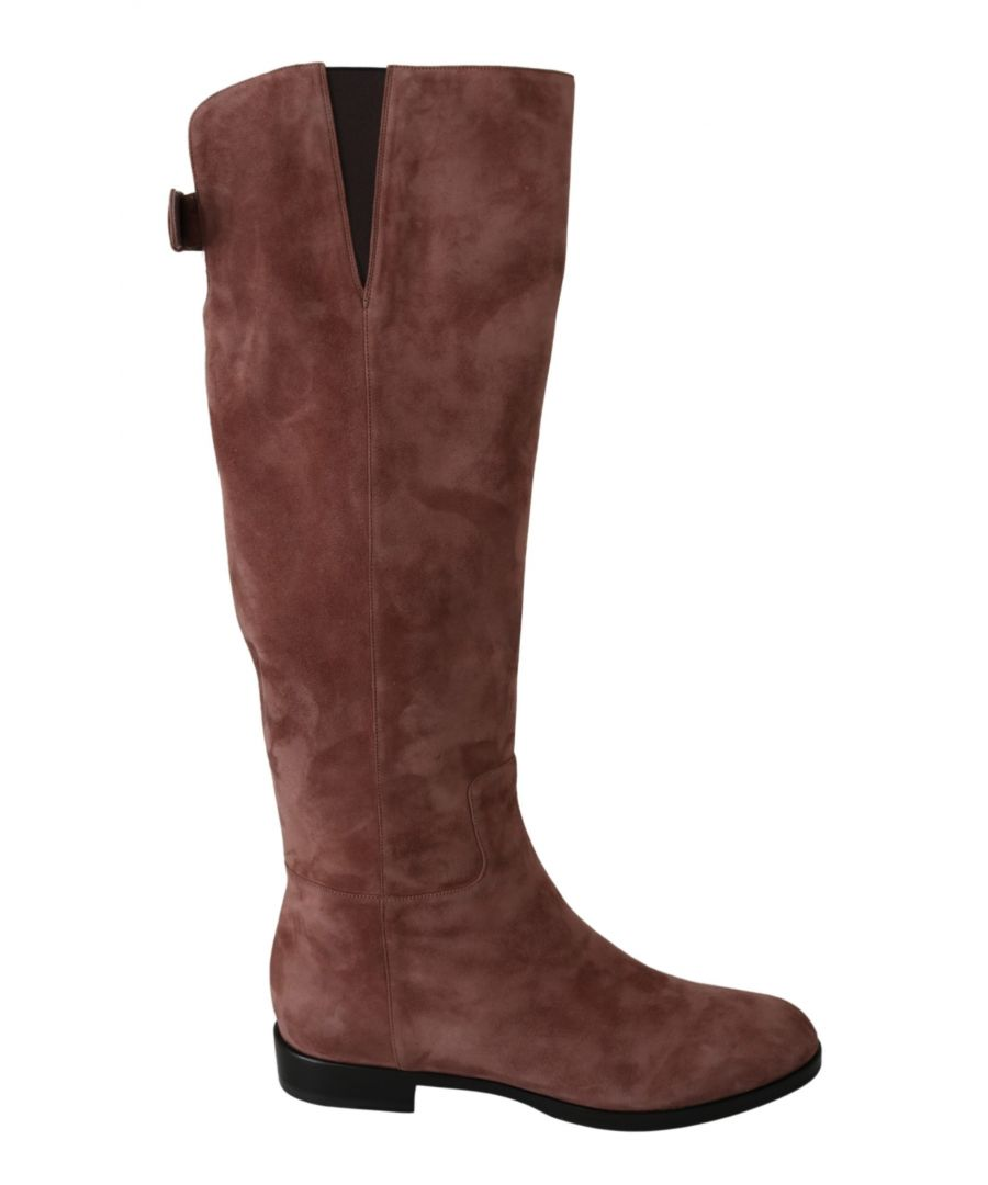 Image for Dolce & Gabbana Beige Leather Suede Knee Shoes Boots