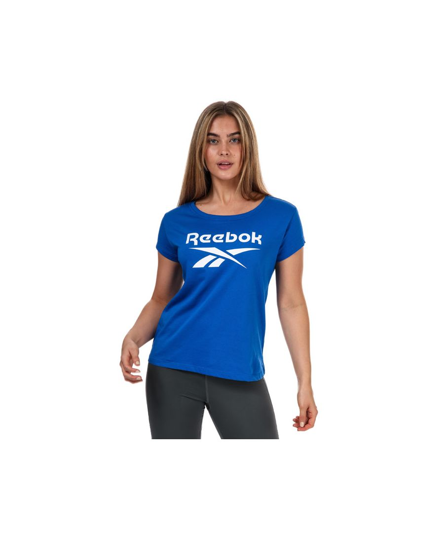 Image for Women's Reebok Graphic T-Shirt Blue 8-10in Blue