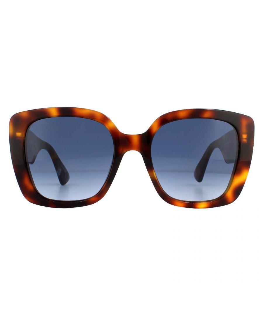 Image for Moschino Sunglasses MOS016/S 086 08 Dark Havana Dark Blue Gradient