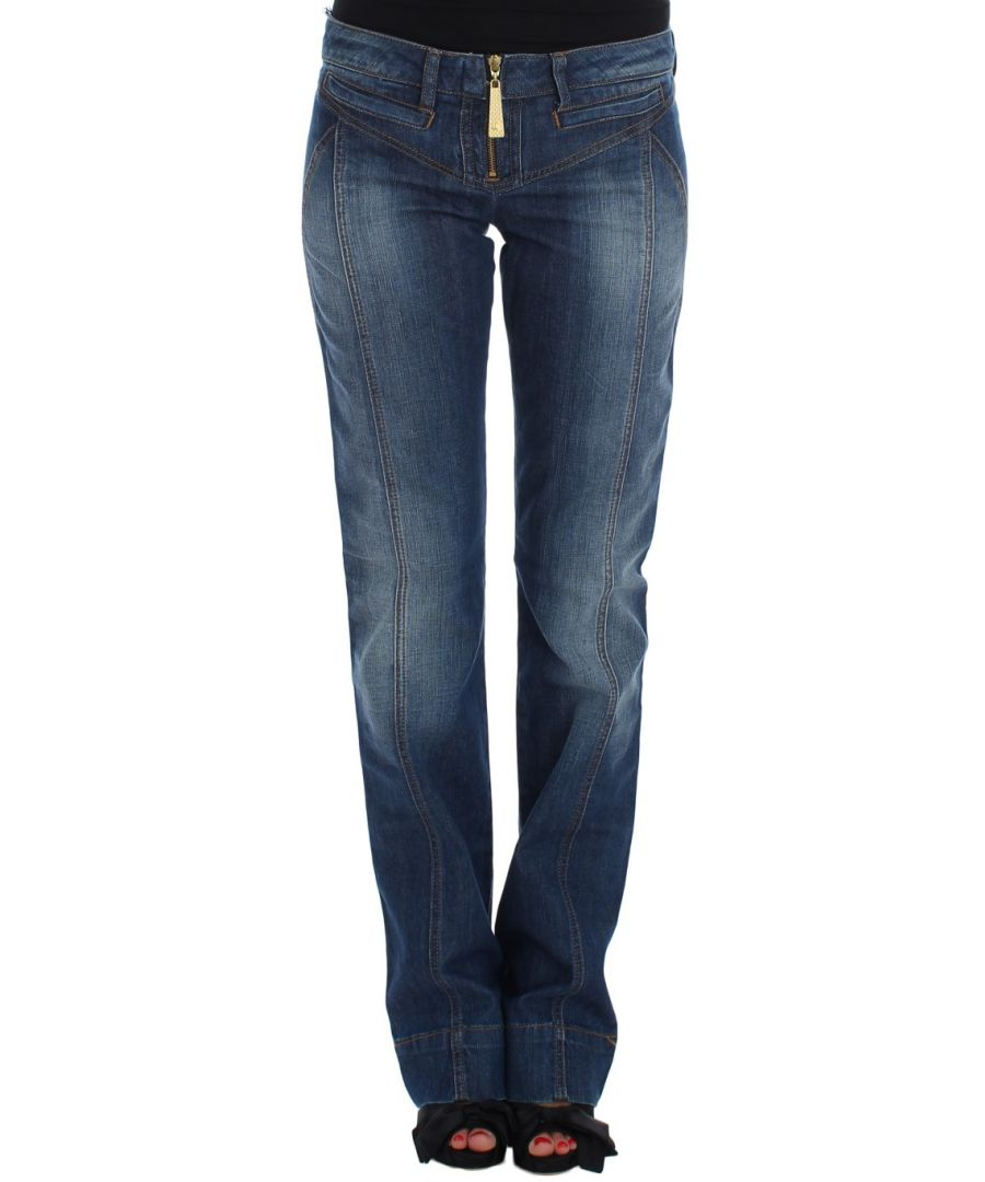 Image for Cavalli Blue Wash Cotton Stretch Boot Cut Jeans
