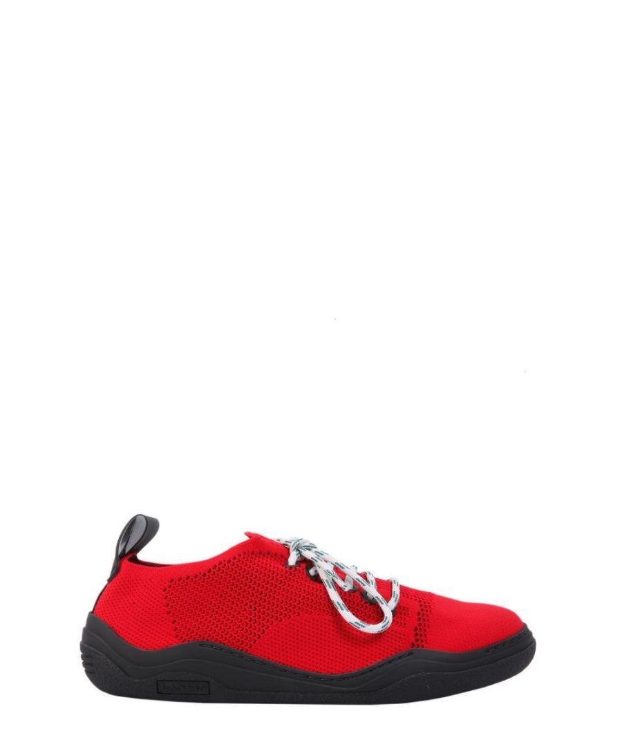 Image for LANVIN MEN'S FMSKDINDKNITA1830 RED POLYAMIDE SNEAKERS