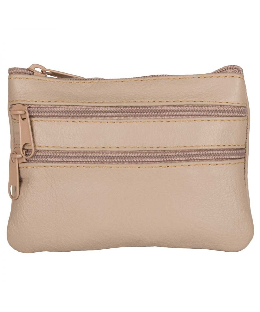 Image for Montevita Leather Purse in Beige