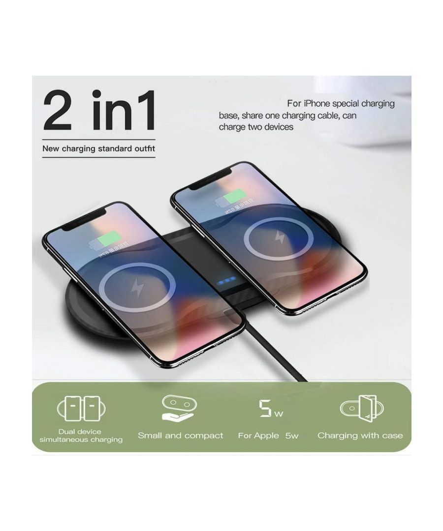 Image for Dual Wireless Charging Dock for Android / IOS