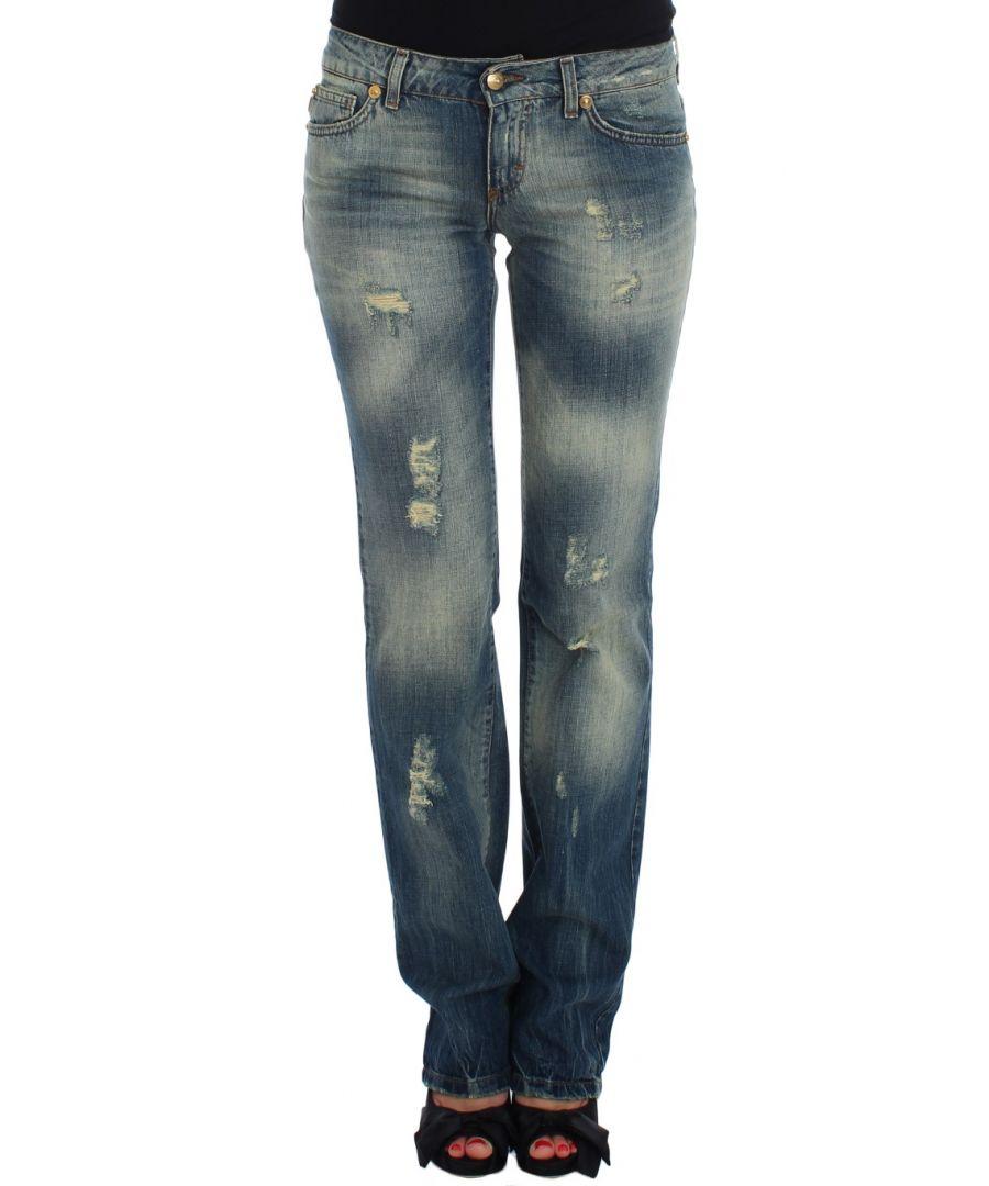 Image for Cavalli Blue Cotton Low Waist Jeans