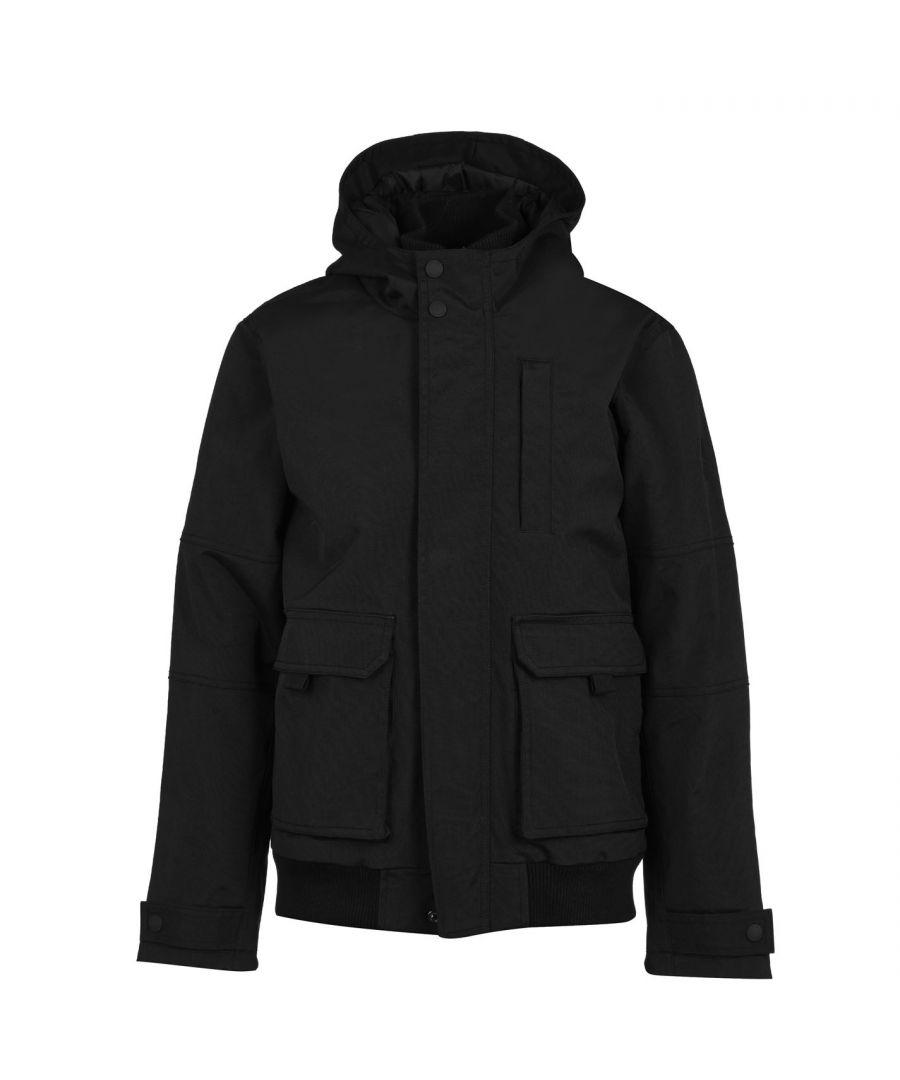 Image for Firetrap Mens Manor Jacket Bomber Heavyweight Full Zip Long Sleeve Top