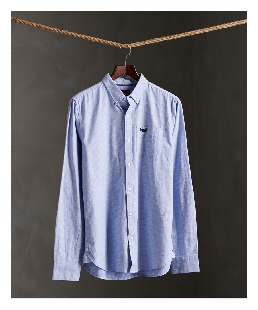 Image for Superdry Long Sleeve Classic University Oxford Shirt
