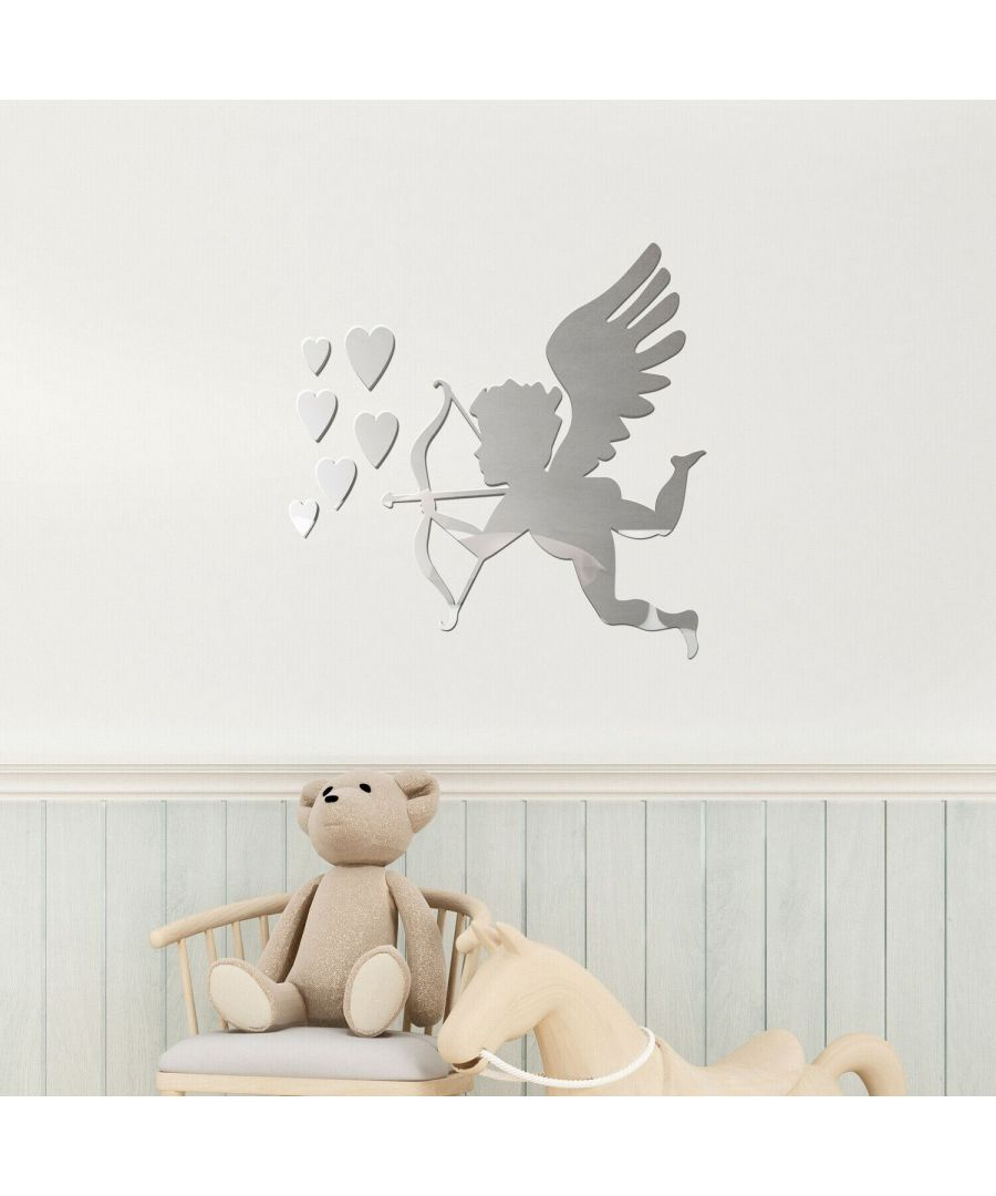 Image for 3D God of Love Cupid Mirror Wall Art Self adhesive,DIY Wall Art, Wall Art Living Room, Mirror Wall Art
