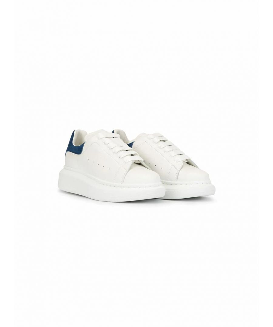Image for ALEXANDER MCQUEEN BOYS 587691WHX129048 WHITE LEATHER SNEAKERS