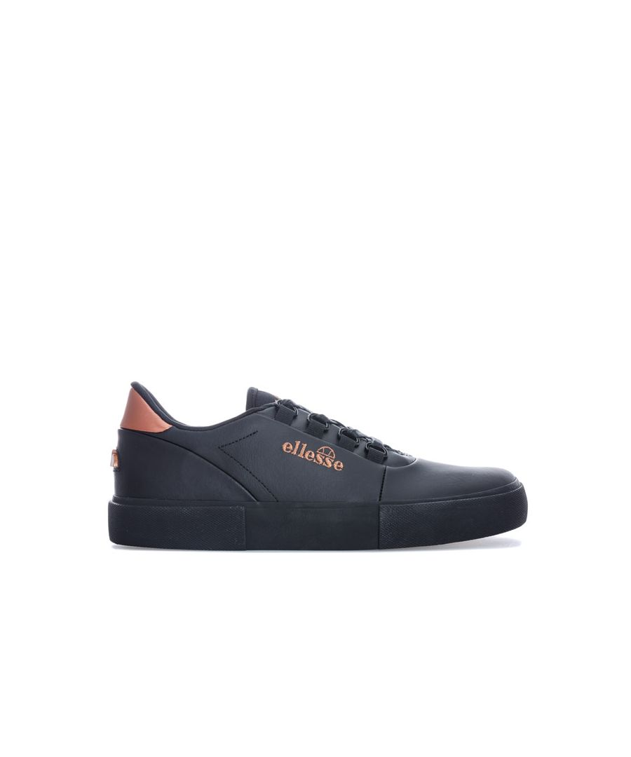 Image for Women's Ellesse Alto D-Lux Leather Trainers in Black