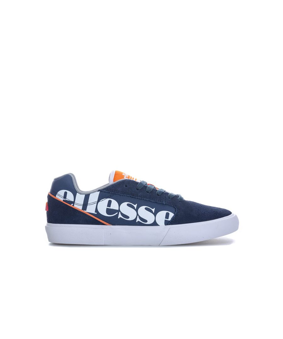 Image for Women's Ellesse Ostuni Suede Trainers in Navy-White