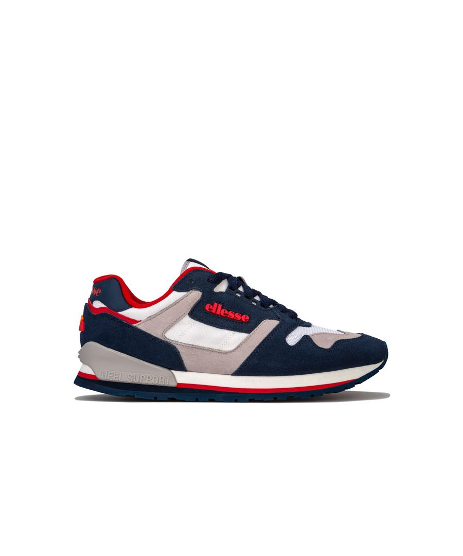 Image for Men's Ellesse 147 Suede Trainers in Navy White Grey