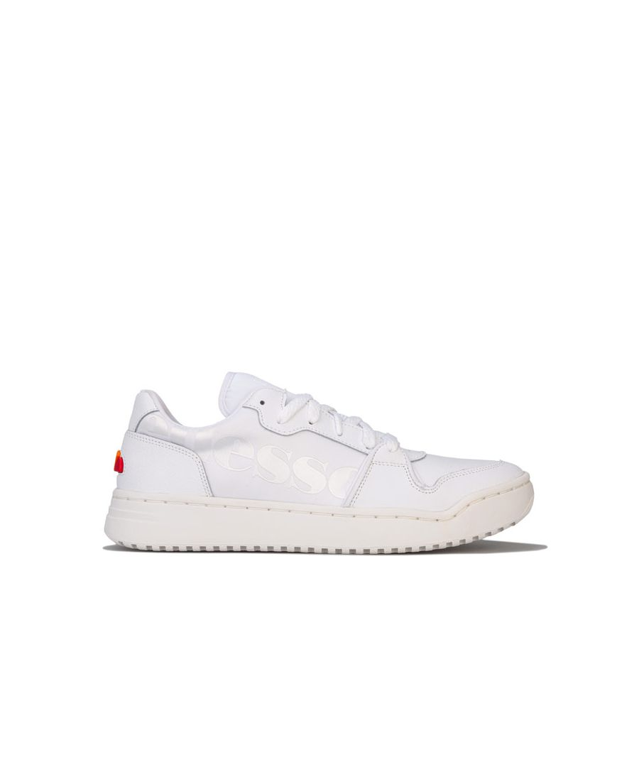 Image for Men's Ellesse Assist Lo 2.0 LTHR Trainers in White