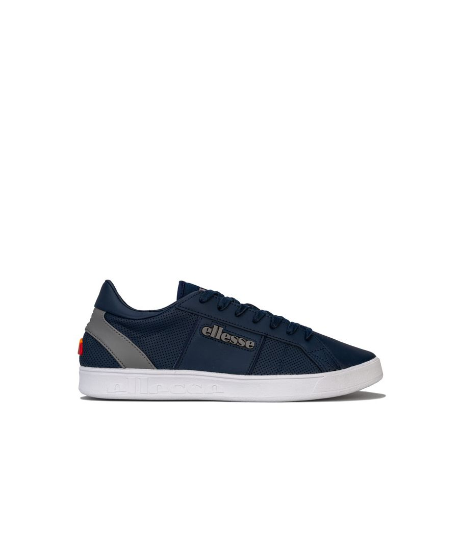 Image for Men's Ellesse LS-80 LTHR Trainers in Navy Grey