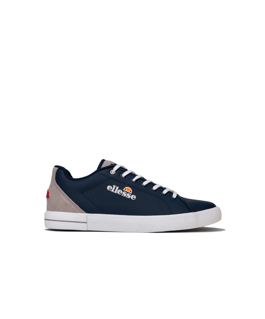 Image for Men's Ellesse Taggia LTHR Trainers in Navy Grey