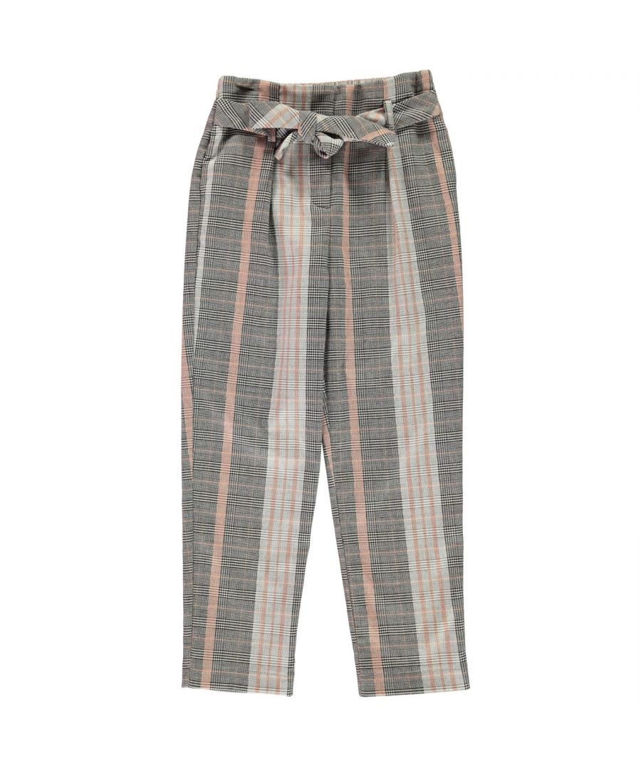 Image for Firetrap Girls Tapered Trousers Bottoms Pants Elasticated Waistband Tapered Fit
