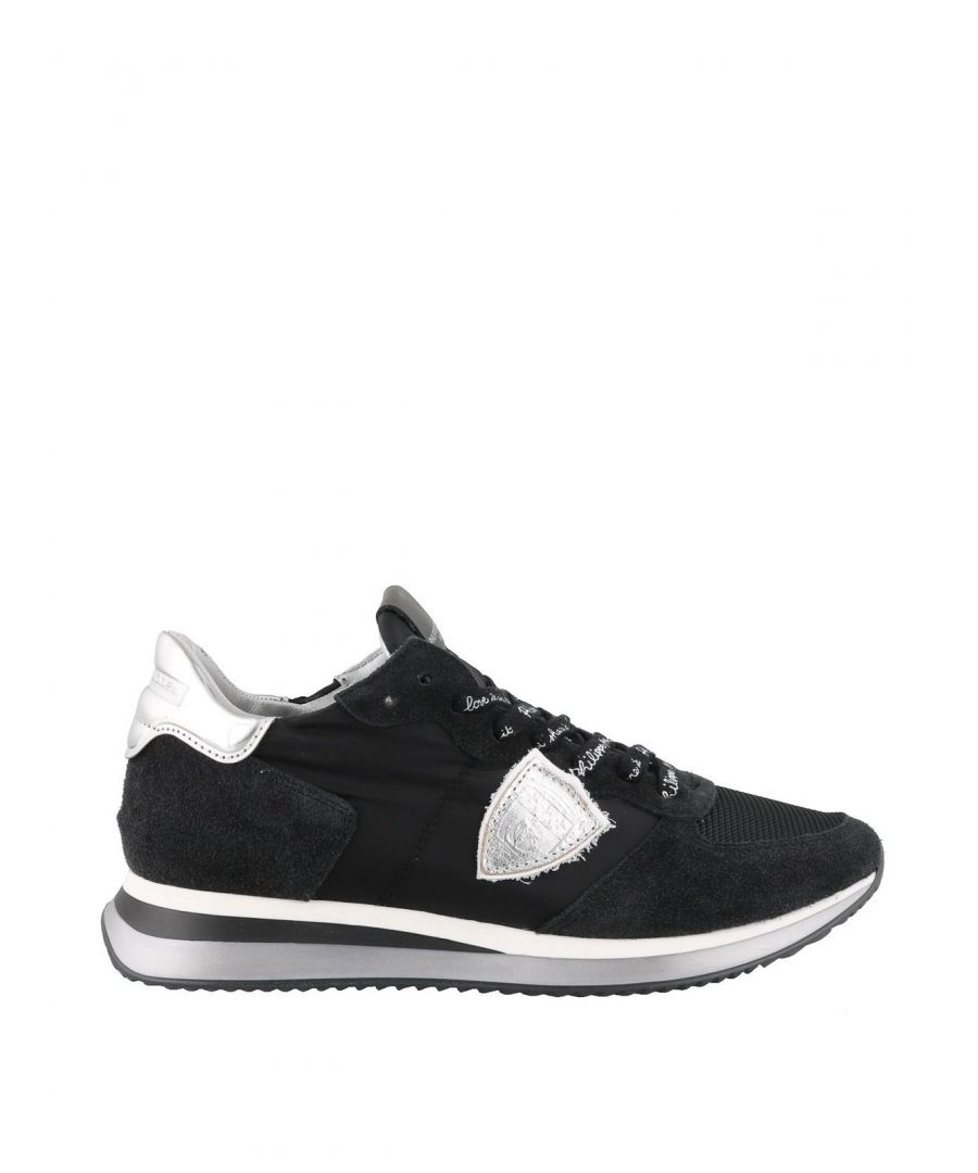 Image for PHILIPPE MODEL WOMEN'S TZLDWB05 BLACK SUEDE SNEAKERS