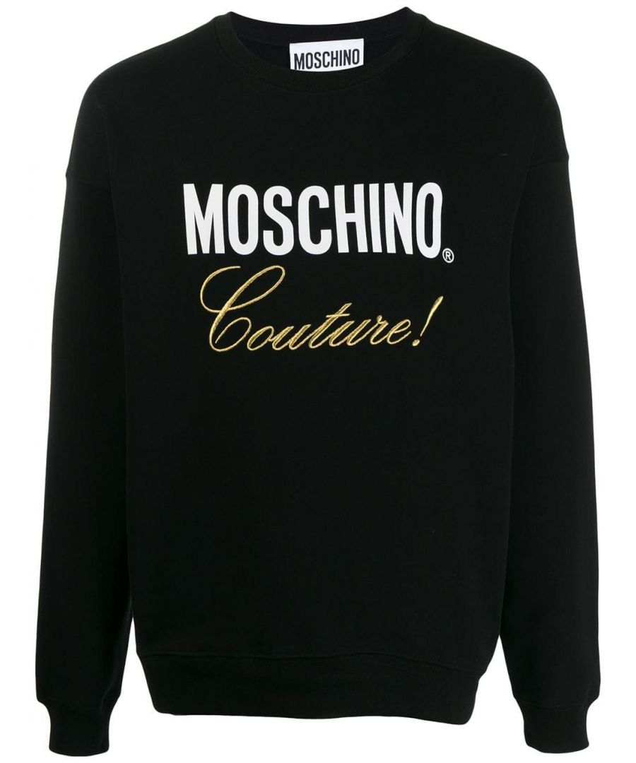 Image for MOSCHINO MEN'S A171952271555 BLACK COTTON SWEATSHIRT