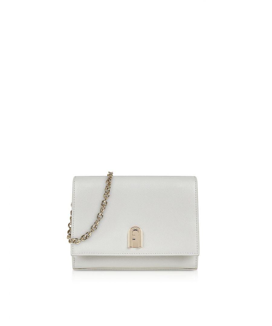 Image for FURLA WOMEN'S 1048476 WHITE LEATHER SHOULDER BAG