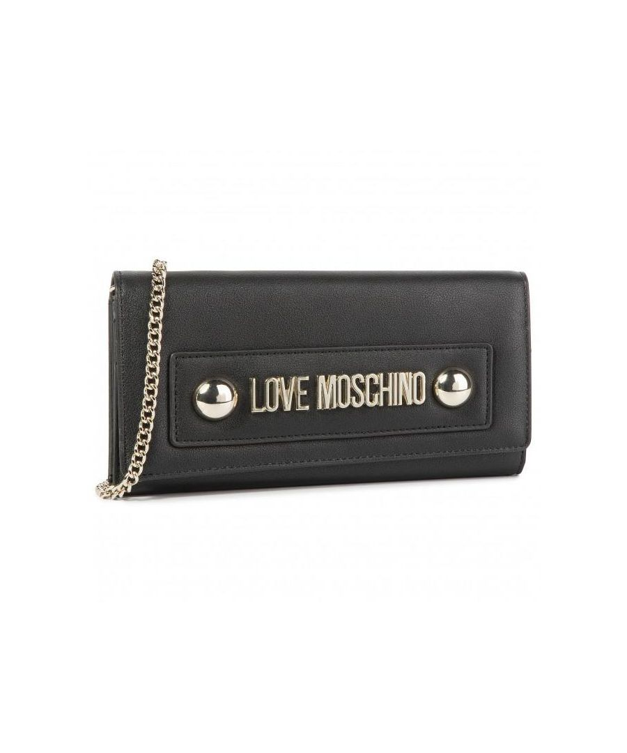 Image for Love Moschino Flap Basic Wallet with Chain in Black
