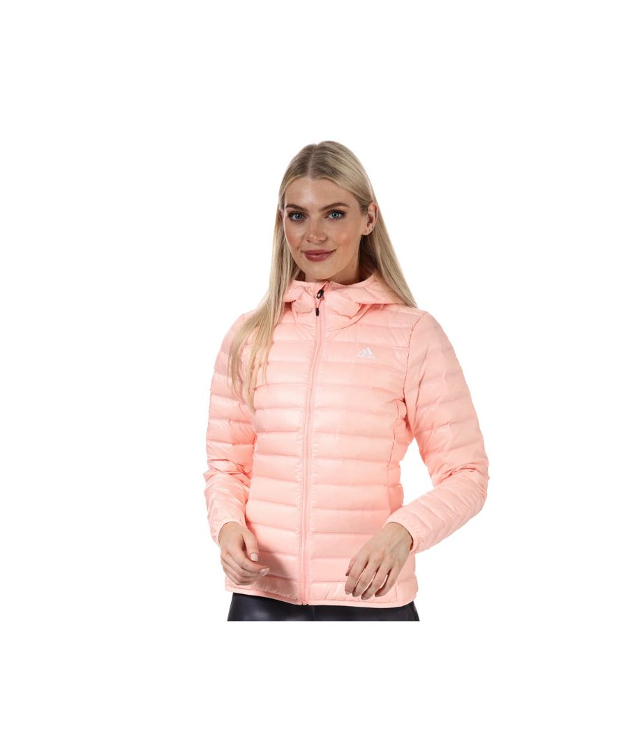 Image for Women's adidas Varilite Hooded Down Jacket in Coral