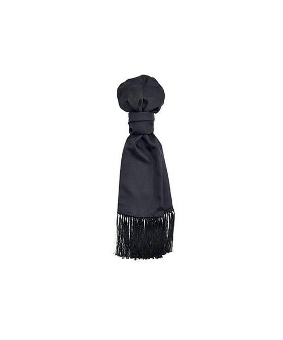 Image for Men's Hackett, H Knott Silk Evening Scarf in Black