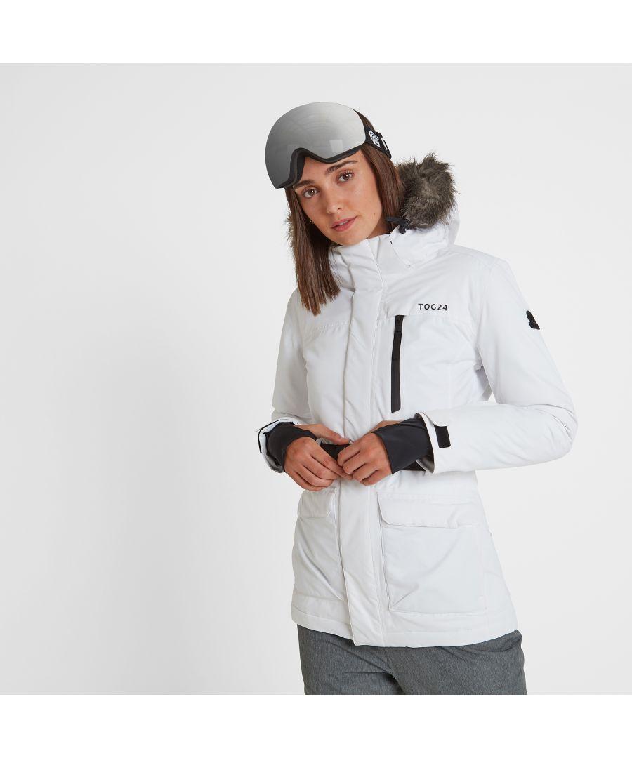 Image for Aria Womens Waterproof Insulated Ski Jacket White