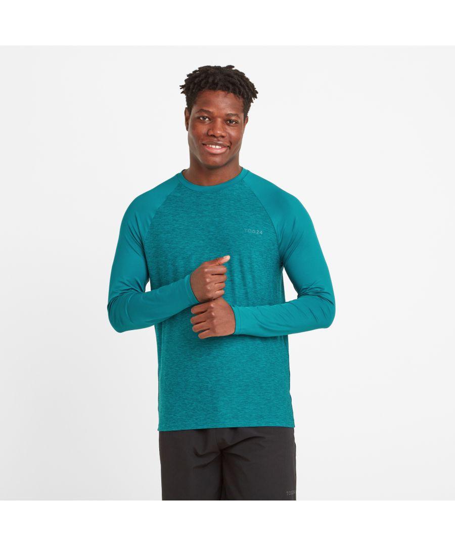 Image for Baldwin Mens LS Tech T-shirt Pacific Blue