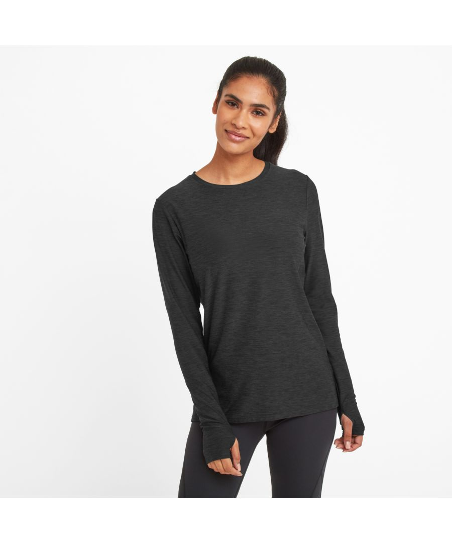 Image for Coulby Womens Long Sleeve Tech T-Shirt Dark Grey Marl