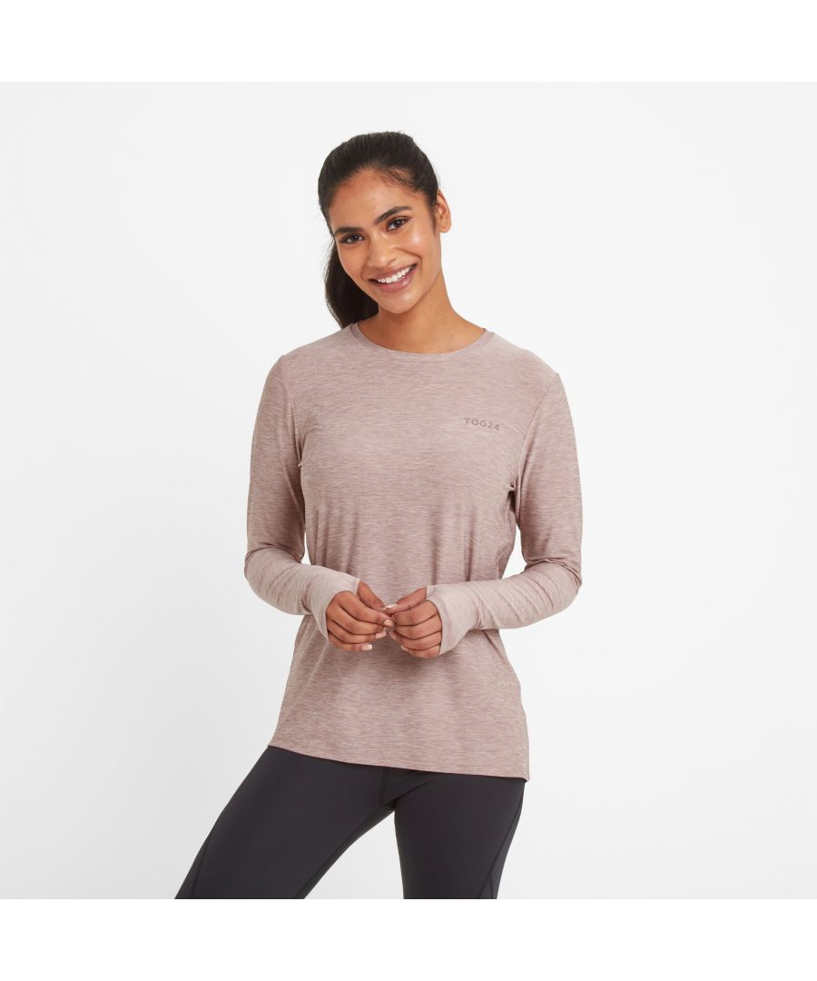 Image for Coulby Womens Long Sleeve Tech T-Shirt Faded Pink Marl